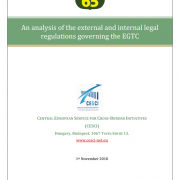 An analysis of the external and internal legal regulations governing the EGTC