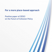 For more place-based approach - Position paper of CESCI on the Future of Cohesion Policy