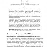Changing interpretation of the EGTC tool