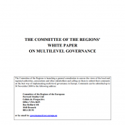 The Committee of the Regions' White Paper on multilevel governance