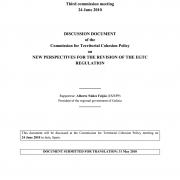 Discussion document of the Commission for Territorial Cohesion Policy on new perspectives for the revision of the EGTC regulation