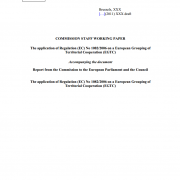 The application of Regulation (EC) No 1082/2006 on a European Grouping of Territorial Cooperation (EGTC) - Report from the Commission to the European Parliament and the Council