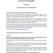 New perspectives for the revision of the EGTC Regulation (CoR 100/2010) - Position paper - Mission Opérationnelle Transfrontalière (MOT)