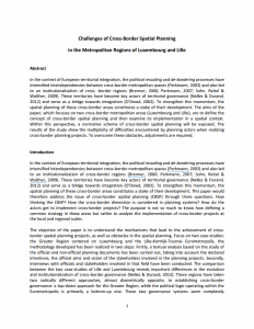 Challenges of Cross-Border Spatial Planning in the Metropolitan Regions of Luxembourg and Lille