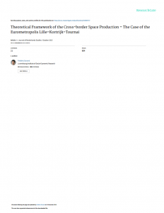 Theoretical Framework of the Cross-border Space Production – The Case of the Eurometropolis Lille–Kortrijk–Tournai
