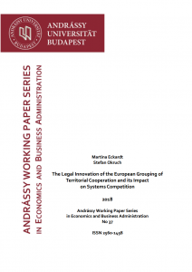 The Legal Innovation of the European Grouping of Territorial Cooperation and its Impact on Systems Competition