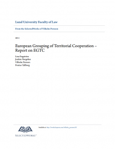 European Grouping of Territorial Cooperation – Report on EGTC