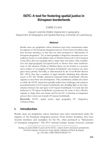EGTC: A tool for fostering spatial justice in EUropean borderlands