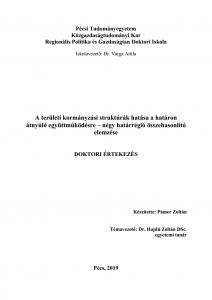 A területi kormányzási struktúrák hatása a határon átnyúló együttműködésre – négy határrégió összehasonlító elemzése