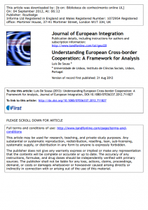 Understanding European Cross-border Cooperation: A Framework for Analysis