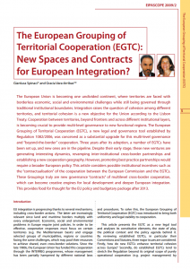 The European Grouping of Territorial Cooperation (EGTC): New Spaces and Contracts for European Integration?