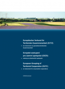 European Grouping of Territorial Cooperation (EGTC) - an instrument for cross-border cooperations