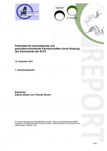 Potenziale für transnationale und grenzüberschreitende Partnerschaften durch Nutzung des Instruments der EVTZ