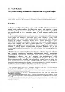 Európai területi együttműködési csoportosulás Magyarországon