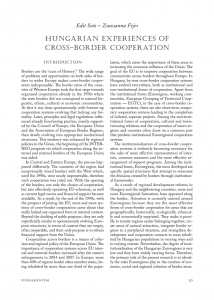 Hungarian experiences of cross-border cooperation