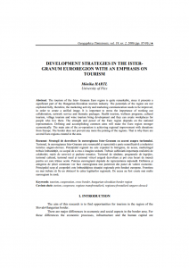 DEVELOPMENT STRATEGIES IN THE ISTER-GRANUM EUROREGION WITH AN EMPHASIS ON TOURISM